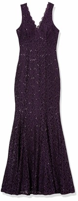 Xscape Evenings Women's Glitter Lace Dress