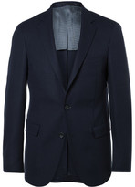 HUGO BOSS Navy Roan Slim-Fit Stretch Virgin Wool Blazer