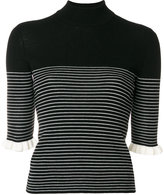 RED Valentino striped knit top - women - Virgin Wool - XS