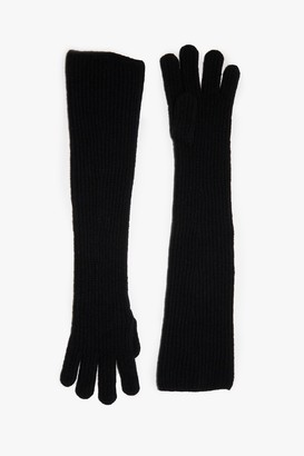 French Connection Melange Knit Long Gloves