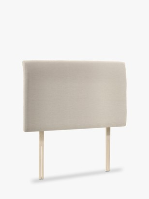 John Lewis & Partners Bedford Upholstered Headboard, Single, Canvas Pebble