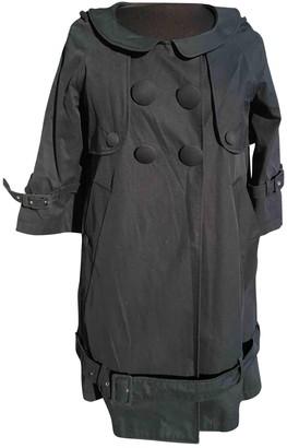 Charles Anastase Blue Cotton Coat for Women