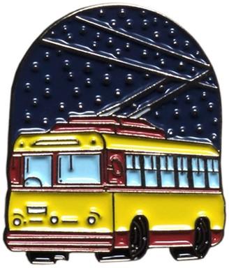 Make Heads Turn Enamel Pin Trolleybus