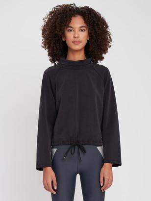 Lanston Sport Drawstring Turtleneck Pullover