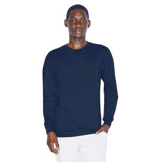 American Apparel Unisex Fine Jersey Crewneck Long Sleeve T-Shirt