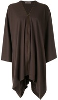 Issey Miyake Pre Owned zip-up poncho