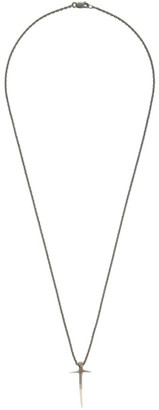 Pearls Before Swine Gunmetal Two-Tone Thorn Cross Necklace