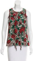 Anna Sui Silk Rose Top