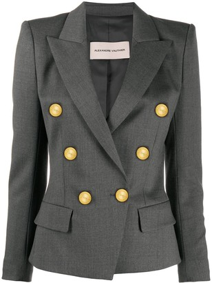 Alexandre Vauthier Double Breasted Military Blazer