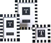 Twos Company Domino Striped Photo Frames (Set of 3)