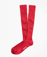 Brooks Brothers Ribbed Over-the-Calf Socks