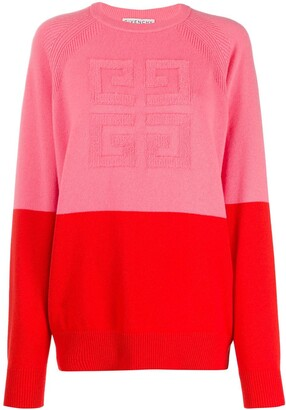 Givenchy 4G two-toned knitted jumper