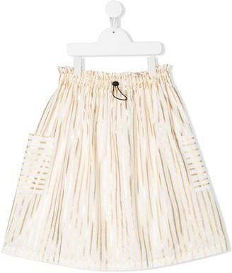 Andorine TEEN metallic-stripe skirt