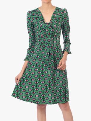 Jolie Moi Tie Front Dress, Green