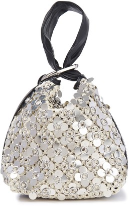 3.1 Phillip Lim Leather-trimmed Sequined Crocheted Clutch