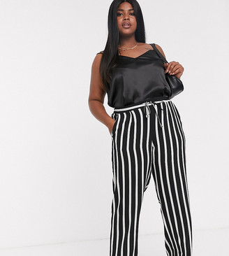 Lovedrobe Striped Tie Waist Pants