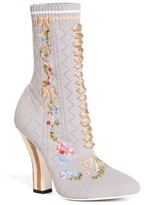 Fendi Women's Floral Sock Bootie