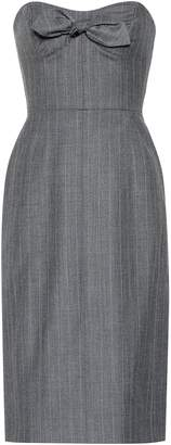 ALEXACHUNG Strapless wool-blend dress