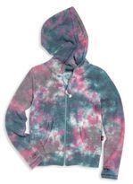 T2 Love Girl's Printed Hooded Jacket