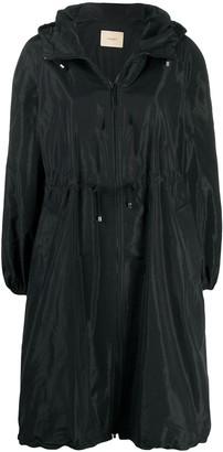 Twin-Set Drawstring-Waist Parka Coat