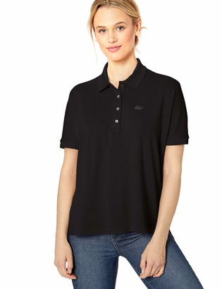 Lacoste Women's Short Sleeve Relaxed FIT Lyocell-Cotton Polo Shirt