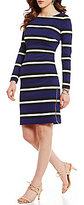 Antonio Melani Lollie Striped Pique Sheath Dress