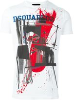 DSQUARED2 brotherhood splatter T-shirt