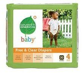 Seventh Generation Baby Diapers Size 4 (1 pack of 30 Diapers)