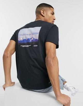 Jack and Jones Originals oversize t-shirt with mountain back print