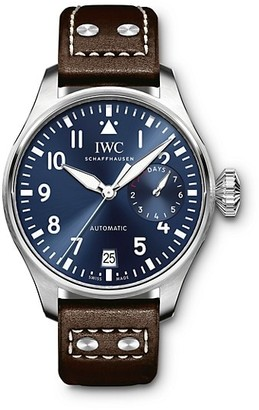 IWC Big Pilot Le Petit Prince Stainless Steel & Leather Strap Watch