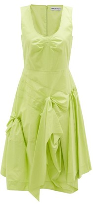 Molly Goddard Baldwin Gathered Cotton Midi Dress - Green