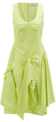 Molly Goddard Baldwin Gathered Cotton Midi Dress - Green