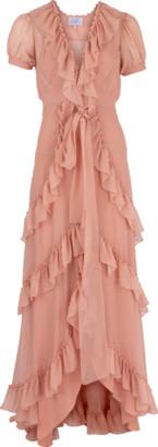 Luisa Beccaria Ruffle Tiered Long Dress
