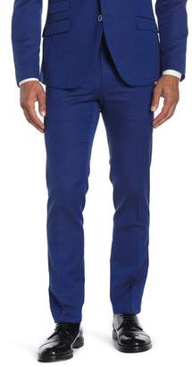 "Paisley & Gray Blue Herringbone Flat Front Suit Separate Pants - 30-32\"" Inseam"