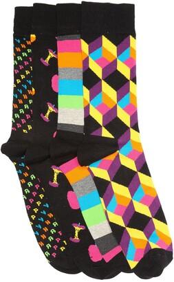 Happy Socks Apple Crew Socks Gift Box - Pack of 4