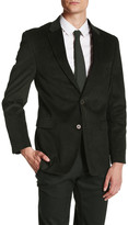 Tommy Hilfiger Willow Two Button Notch Lapel Suit Separates Corduroy Jacket