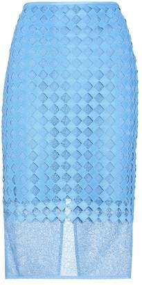 Diane von Furstenberg Layered lace pencil skirt