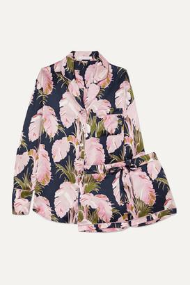 Olivia von Halle Alba Printed Silk-satin Pajama Set - Lilac