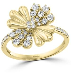 Effy Diamond Flower Statement Ring (1/2 ct. t.w.) in 14k Gold