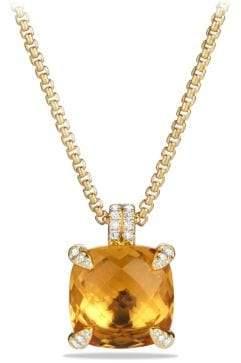 David Yurman Châtelaine® Pendant Necklace With Citrine And Diamonds