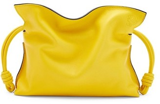 Loewe Mini Flamenco Knot Leather Clutch