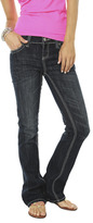 Wet Seal WetSeal Back Flap Boot Cut Jean Dk Sndblstd