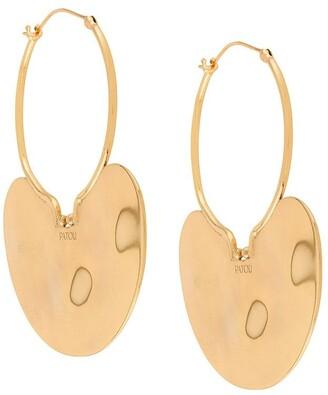 Patou Hammered Hoop Earrings