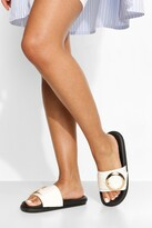 Thumbnail for your product : boohoo Round Buckle Detail Slider