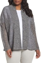 Eileen Fisher Plus Size Women's Boxy Organic Linen Cardigan