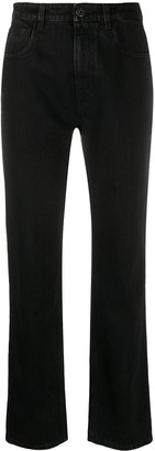 Prada High-Rise Straight Leg Jeans