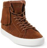 Ralph Lauren Winona Fringed Suede Sneaker