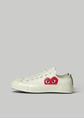 Comme des Garcons Women's Low Top Converse Chuck Taylor Shoes in Beige Size 9 Cotton/Rubber Sole