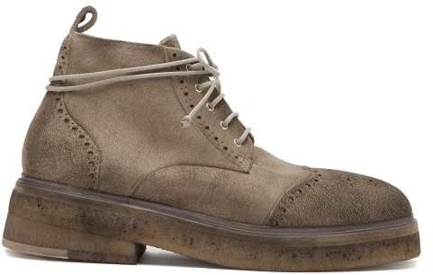 Marsèll Sassacca Suede Boots - Mens - Grey