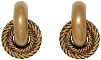 Balenciaga Gold Small Mesh Earrings